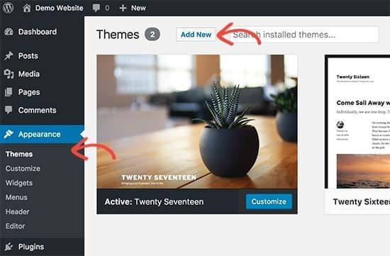 Cambiar un tema completo en WordPress es muy sencillo