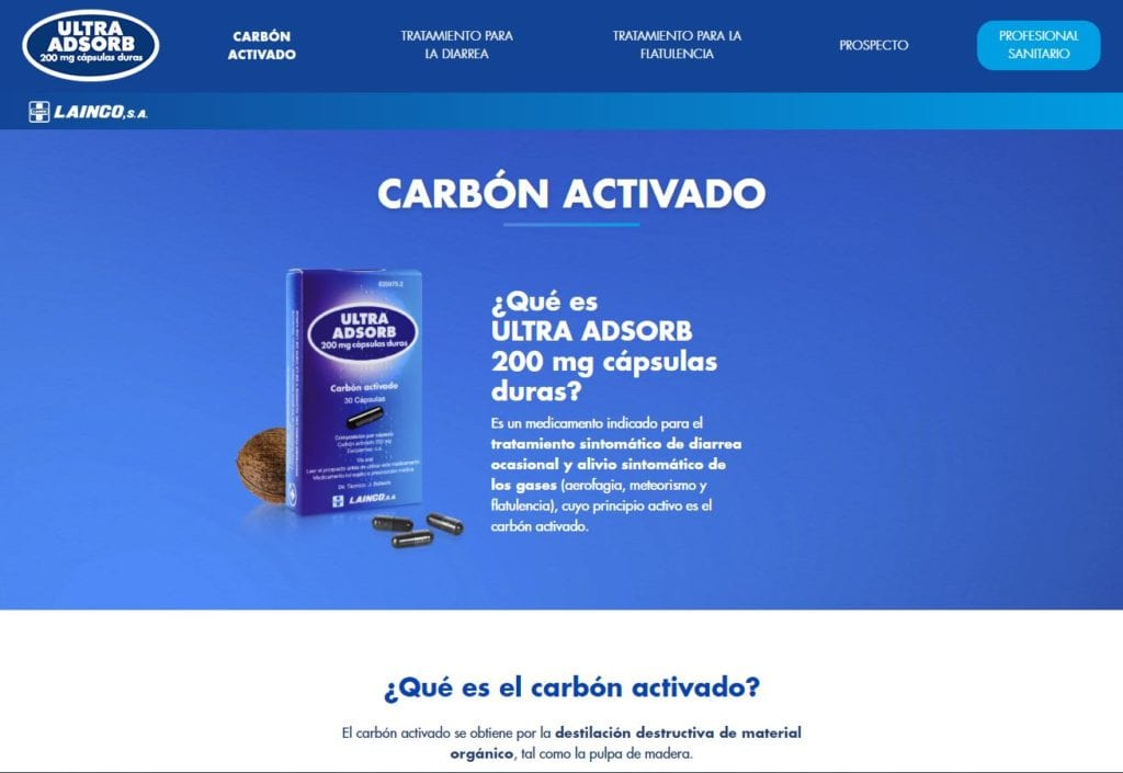 diseño web ultra adsorb corporativa
